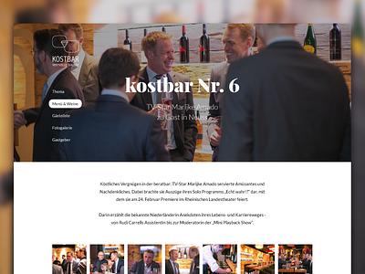 Event Recap Website party images big font header webdesign interface ui website people wine event