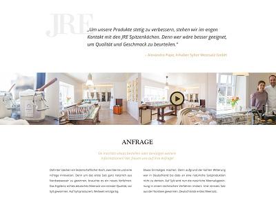 JRE Webdesign Relaunch #03 ux ui restaurant video slider image clean white minimal website webdesign web