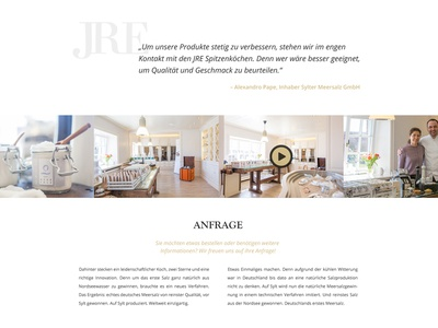 JRE Webdesign Relaunch #03 ux ui restaurant video slider image clean white minimal website webdesign web