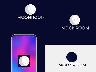 Moonroom logo design ux vector ui logotypes logodesign logo illustration graphic design design branding