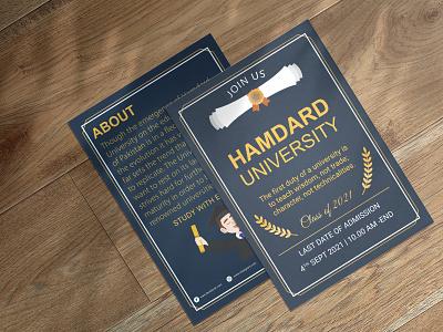 University flyer design university flyer flyer design flyer logotypes logodesign logo illustration graphic design design branding