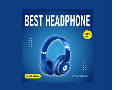 social media ad design for Headphone ux vector ui logotypes logo logodesign illustration graphic design design branding