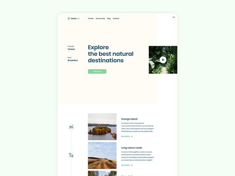Natural destinations GRID Desktop uidesign ui grid design travels homepage grid layout exploration grid