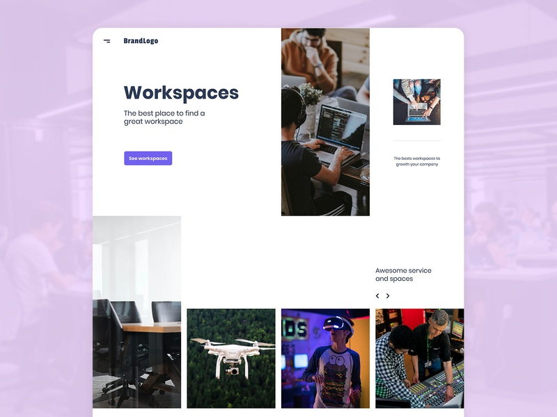 Homepage grid exploration uidesign ui grid ui grid ui ui design desktop homepage grid