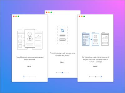 Adobe XD: Preview prototypes illustrations ux adobe xd