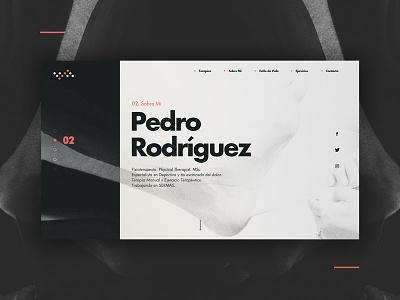 Pedro Rodríguez - Physical Therapist minimal identity branding physiotherapy ux ui website web