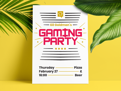 Socialbakers Gaming Party Poster internal socialbakers party poster design
