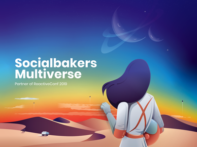 Socialbakers Multiverse Stand - on behance socialbakers conference stand illustration design