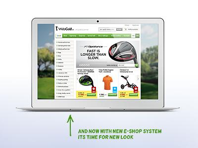 WebGolf.cz — eshop redesign redesign webdesign golf webgolf.cz e-shop