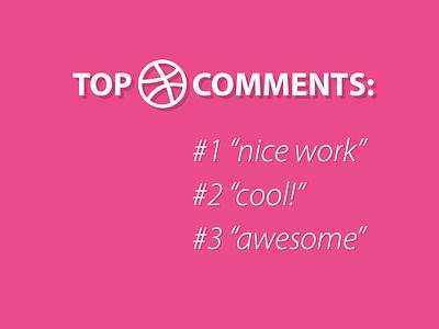 Top dribbble comments dribbble pink troll lol joke awesome nice