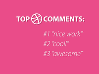 Top dribbble comments