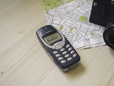 Sociabakers Builder for Nokia 3310 socialbakers builder nokia 3310 app design lowpoly mockup