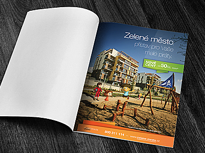 Design printed advertising — Green City Prague print advertise design prague development project