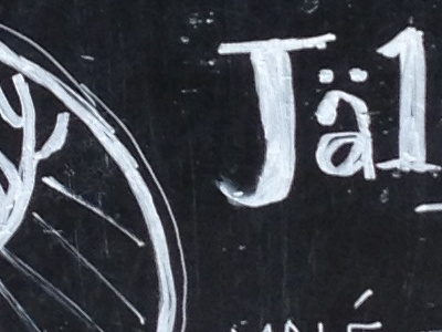 Jälinkovic parohy — hand draw :-) chalk draw table handmade jalikovic parohy