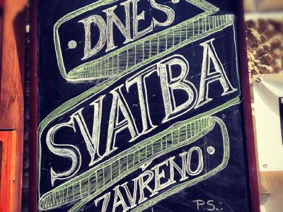 Chalk wedding board — U JELINKU v Trebici chalk wedding u jelÍnku v třebíči cermak hand made nice i love it 3d real world