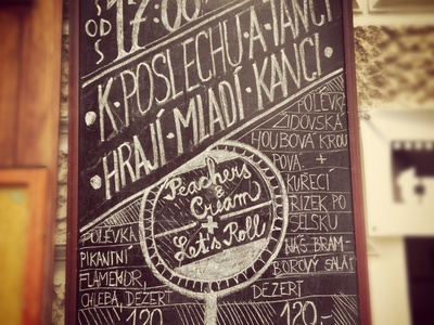 Chalk Design U Jelinku chalk design handmade retro advertise party music chalk design u jelinku old time