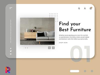Home Shop home living onlineshop shop ecommerce ui illustration design ux landing page graphic design coffee cafe app