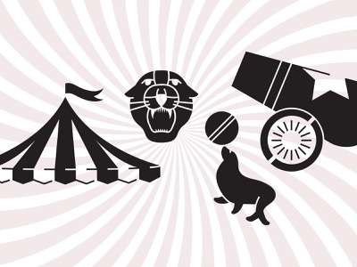 Circus Cut-Out Concepts cutout icon illustration