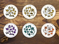 Holiday Coasters Color Options