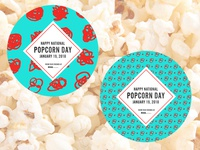 Scribble Popcorn Stickers