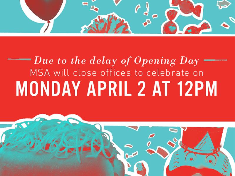 Opening Day Rain Delay reds cincinnati baseball sports social media typography collage illustration