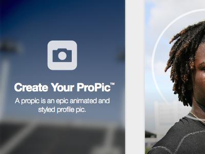 Propic Screens hudl skunkworks selfie mobile ios app sports