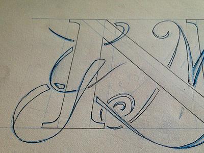 Monogram Sketch sketch lettering
