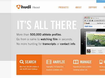 Site Design Concept hudl website