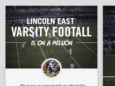 Campaign Page Mock hudl fundraising