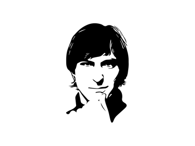 Steve illustrator vector svg portrait apple trace stevejobs
