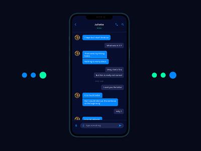 Daily UI 013 - Direct Messaging dailyui013 direct messaging messaging message chat ux ui interface design design dailyui app