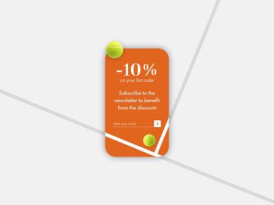Daily UI 016 - Pop-Up / Overlay tennis pop-up ux ui interface design design dailyui app