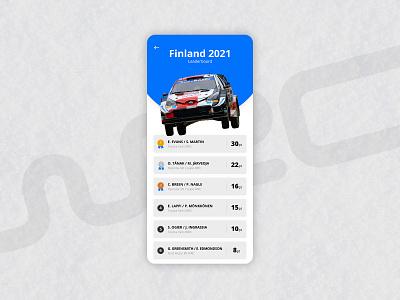 Daily UI 019 - Leaderboard leaderboard wrc dailyui019 ux ui interface design design dailyui app