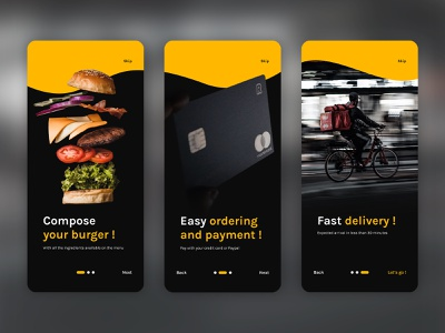 Daily UI 023 - Onboarding 023 daily ui 023 delivery onboarding ux ui interface design design dailyui app