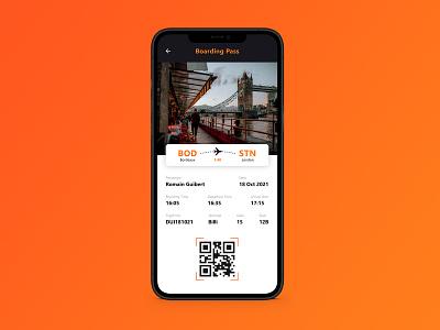 Daily UI 024 - Boarding Pass boarding pass 024 daily ui 024 ux ui interface design design dailyui app