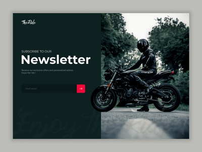 Daily UI 026 - Subscribe moto 026 daily ui 026 newsletter subscribe ux ui interface design design dailyui app