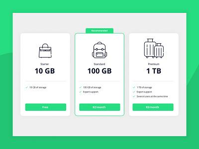 Daily UI 030 - Pricing 030 daily ui 030 pricing ui ux interface design design dailyui app