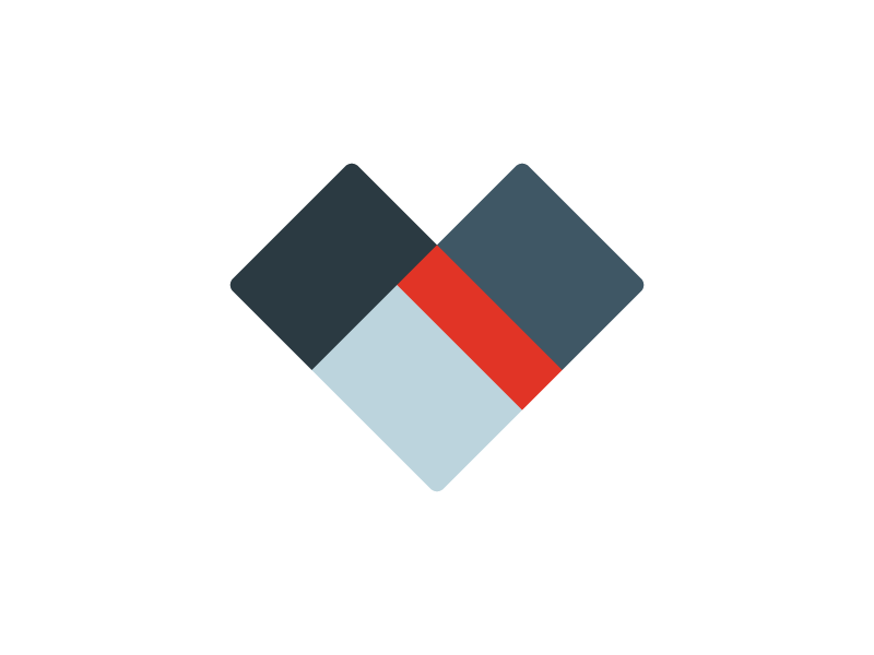 Heart shapes abstract heart