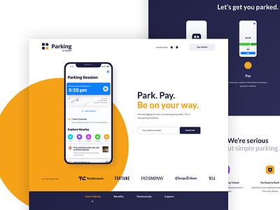 ParkingApp.com for Passport marketing site application lato circle ios parking app