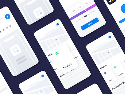 Simplified App Screens for Passport Parking ios passport parking simple app