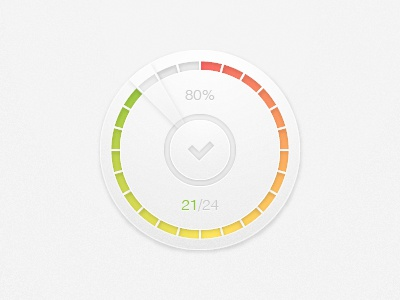Button with progress count button progress count tick round circle colors red yellow green gradient knob steps illustrator