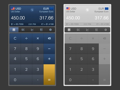 iCurrency Pad for iOS 7 (WIP)