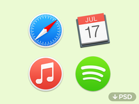 Yosemite Icons PSD and ICNS