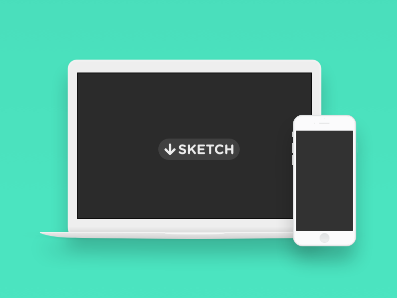 Minimal Macbook & iPhone 6 freebie hardware psd resource sketch iphone macbook minimal download