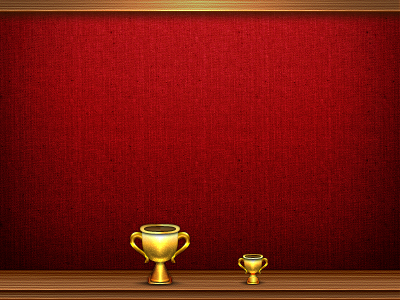 Trophy trophy wood fabric gold game center