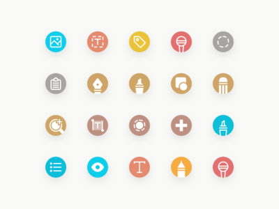 Toolbar Icons for Whink App
