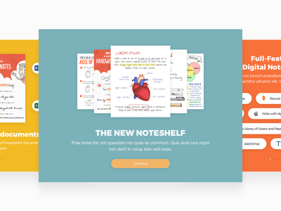 Noteshelf 2 Walkthrough app iphone ipad walkthrough onboarding notetaking noteshelf