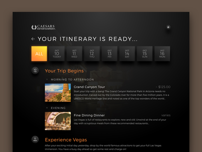 Hotel Itinerary Builder itinerary ipad ui ux hotel wizard tablet guest concierge