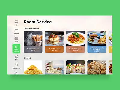Smart TV - Room Service food delivery hotel room service smart tv smart home tv tvos channels television