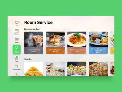 Smart TV - Room Service food delivery hotel room service smart tv smart home tv tvos channels television